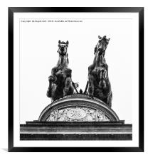 Standing Proud., Framed Mounted Print