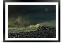 Stormy sea, Framed Mounted Print