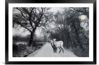 A winters' tale, Framed Mounted Print