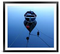 Blue Reflection, Framed Mounted Print
