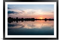 Startopsend Sunset, Framed Mounted Print