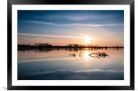 Wilstone Sunset, Framed Mounted Print
