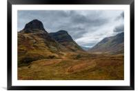 Two Sisters of Glen Coe, Framed Mounted Print