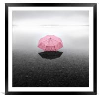 Pinky Umbrella, Framed Mounted Print