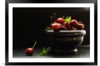 Would you like a cherry , Framed Mounted Print