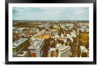 Aerial View Of Bucharest City Skyline, Framed Mounted Print