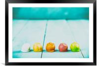 Colorful Fondant Candies, Framed Mounted Print