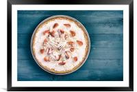 Homemade Strawberry Cheesecake With Chocolate, Framed Mounted Print