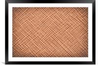 Vintage Natural Brown Leather Texture Background, Framed Mounted Print