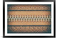 Zipper Closeup On Brown Leather Wallet, Framed Mounted Print
