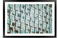 Business Building Windows Abstract Detail, Framed Mounted Print