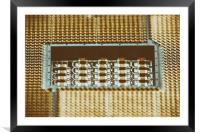 CPU Socket On Computer Motherboard, Framed Mounted Print