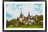 Neo-Renaissance Peles Castle Built In 1873 In Carp, Framed Mounted Print