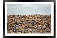 Pebble Beach at Margate., Framed Mounted Print
