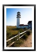 Lighthouse in New England, Framed Mounted Print