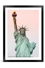 Statue of liberty, Framed Mounted Print