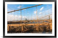 The Brooklyn Bridge, Framed Mounted Print
