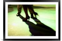 Tango dancer in milonga, Framed Mounted Print