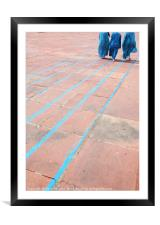 Blue Lines, Framed Mounted Print