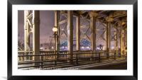 The Tyne Bridge Newcastle , Framed Mounted Print