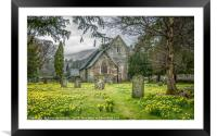 Church of Saint Patrick in Patterdale, Framed Mounted Print