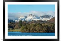 The Langdale Pikes Lake District, Framed Mounted Print