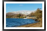 Windermere and the Fairfield Horseshoe Cumbria, Framed Mounted Print