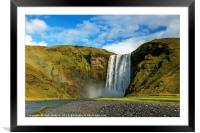 Skogafoss Waterfall Iceland, Framed Mounted Print