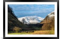 Blencathra from St Johns in the Vale Lake District, Framed Mounted Print