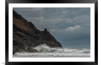 Pobbles Bay on the Gower Peninsula South Wales, Framed Mounted Print