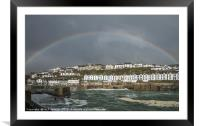 Rainbow over Porthleven, Framed Mounted Print