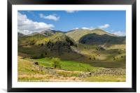 Fells Below Coniston Old Man Lake District, Framed Mounted Print