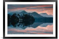 Derwent Water Sunset, Framed Mounted Print