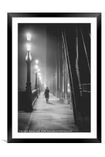 Fog on The Tyne, Framed Mounted Print