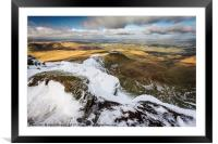 A Snowy Brecon Beacons, Framed Mounted Print