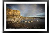 The cliffs and beach at Nash Point, Framed Mounted Print
