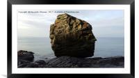 Tregardock Beach North Cornwall coast, Framed Mounted Print