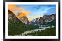 Dramatic View of Yosemite National Park Vista, Framed Mounted Print