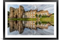Tonbridge Castle Reflections, Framed Mounted Print