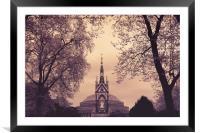 Albert Memorial & Royal Albert Hall, Framed Mounted Print