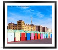 Hove seafront - Brighton & Hove, Framed Mounted Print
