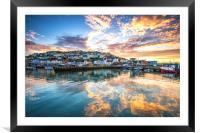 Golden Harbour, Framed Mounted Print