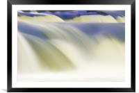 Abstract rendition of heavily flooded waterfall, Framed Mounted Print