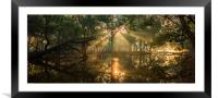 Rays from heaven, Framed Mounted Print