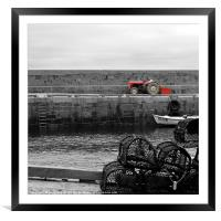 The Tractor, Framed Mounted Print