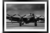 Avro Lancaster NX611 Just Jane , Framed Mounted Print