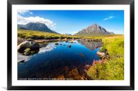 Rannoch Moor and The Buchaille, Framed Mounted Print