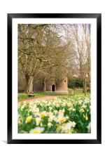 Cow Tower in the Spring time., Framed Mounted Print