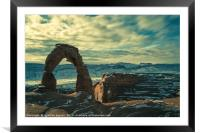 Delicate Arch, Framed Mounted Print
