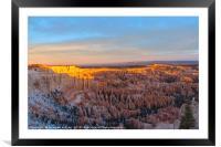Bryce Sunrise , Framed Mounted Print